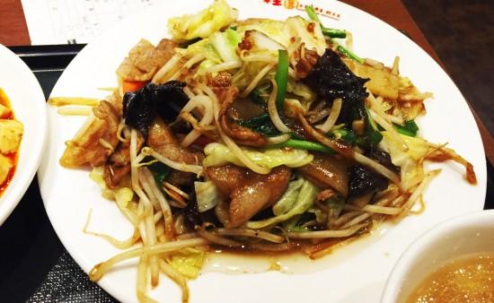 桂園の豚肉と野菜炒め